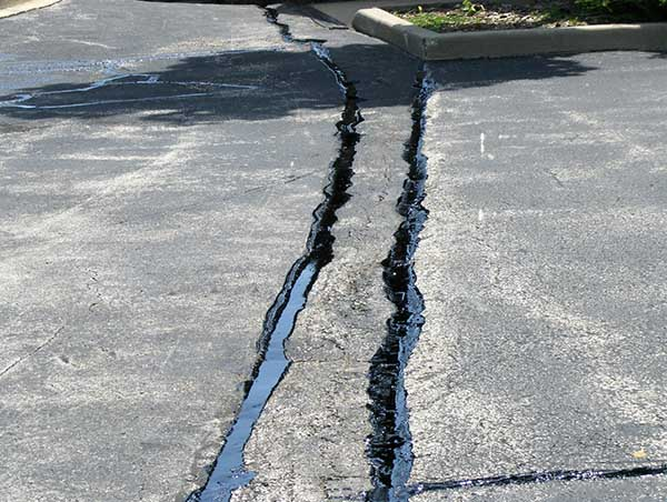 Poblocki Paving Corp provides Asphalt Maintenance with Crack Sealing