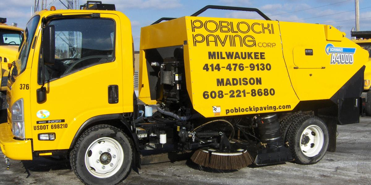 Poblocki Paving Milwaukee Sweeping Services Truck