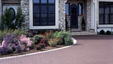 landscape hardscape concrete patio stone brick natural retaining wall path
