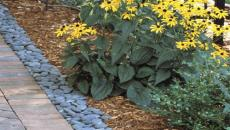 landscape hardscape concrete patio stone brick natural retaining wall path