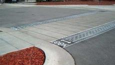 thermoplastic crosswalk safety stamped DuraTherm Asphalt